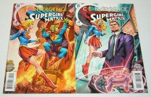 Convergence Supergirl: Matrix #1-2 VF/NM complete series - ambush bug giffen set