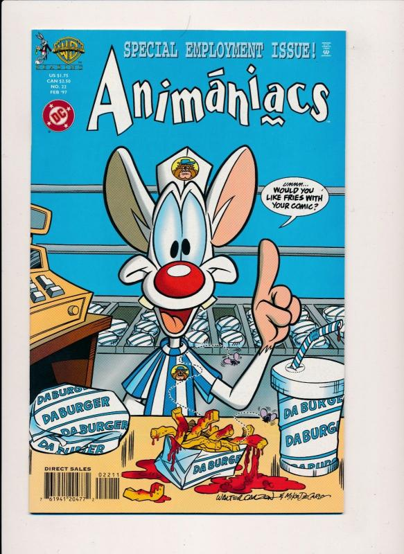 DC Comics  ANIMANIACS #22 Special Employment Issue WB ~ NM 1997 (HX974)