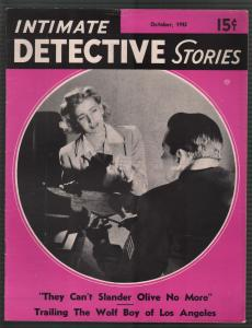 Intimate Detective Stories  10/1942-Nazi Spy-Alan Hynd-violent-pulp thrills-FN