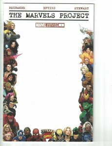 The Marvels Project #1 70th anniversary blank frame cover - variant edition