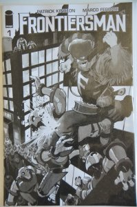 Frontiersman #1, Black and White Variant! Low Print Run ! Great Art and Story!!