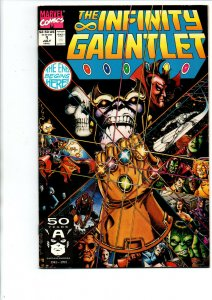 Infinity Gauntlet #1 - Thanos - Avengers End Game - 1991 - Very Fine/Near Mint