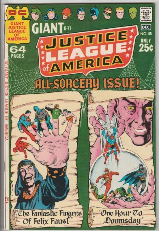 Justice League of America #85 (Dec-70) FN/VF+ High-Grade Justice League of Am...