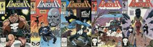 PUNISHER (1987) 21-25  1st app The Shadowmasters ! COMICS BOOK