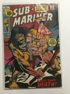 Sub-Mariner 42 Very Good+ Vg+ 2.5 Marvel