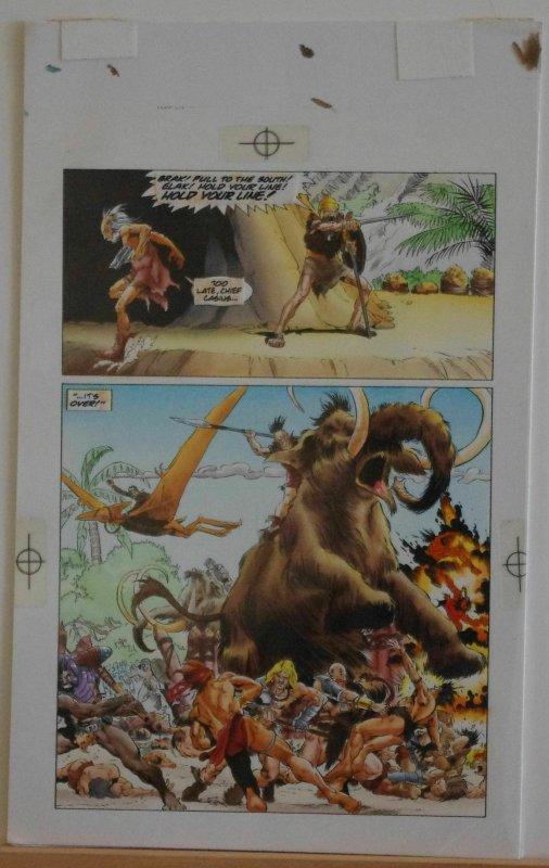 RAGS MORALES / KEN BRANCH original transparency art, TUROK, #24 pg 15, Battle