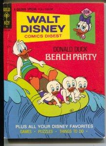 Walt Disney Comic Digest #54 1975-Beach party-Donald Duck-VF