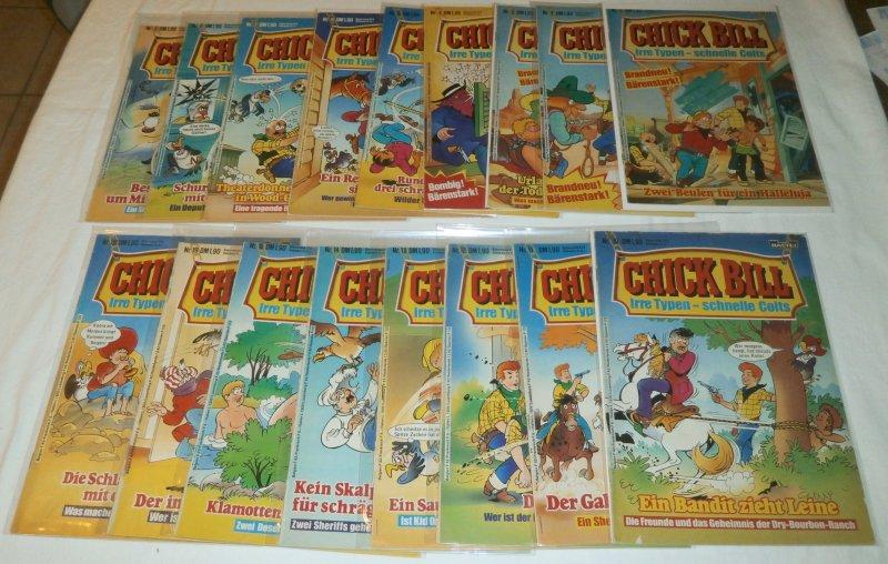 Chick Bill   (German)   #1-15,19,20 (set of 17)