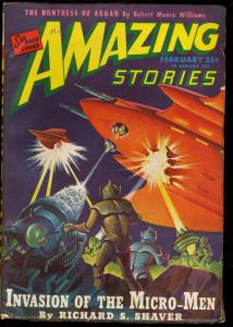 AMAZING STORIES 1946 FEB-COOL SCI FI PULP FN