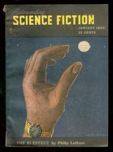 ASTOUNDING SCIENCE-FICTION JAN 1950-L RON HUBBARD-fine FN