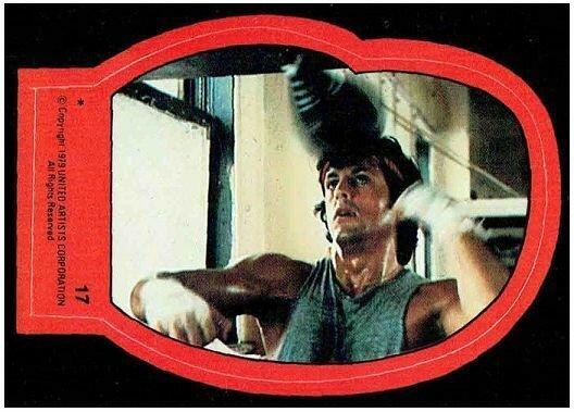1979 Topps Rocky II Sticker #17 Rocky Balboa > Stallone > Italian Stallion