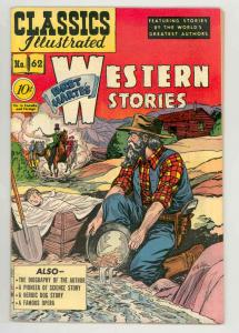 CLASSICS ILLUSTRATED #62 HRN 62 WESTERN .1949. 1st ed - -GORGEOUS COND