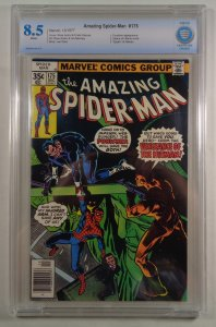 Amazing Spider-Man #175 CBCS 8.5 White Pages Punisher Death of Hitman