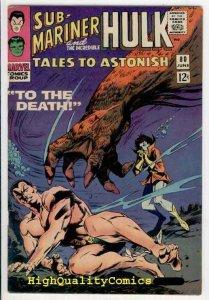 TALES TO ASTONISH 80, Hullk, Sub-Mariner, FN/VF, Jack Kirby, 1966, Bill Everette