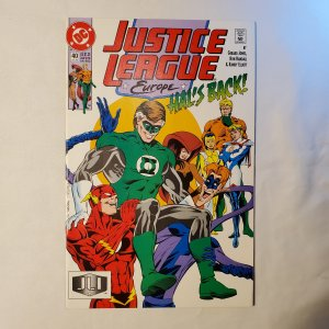 Justice League Europe 40 Very Fine+ Cover by Karl Kesel