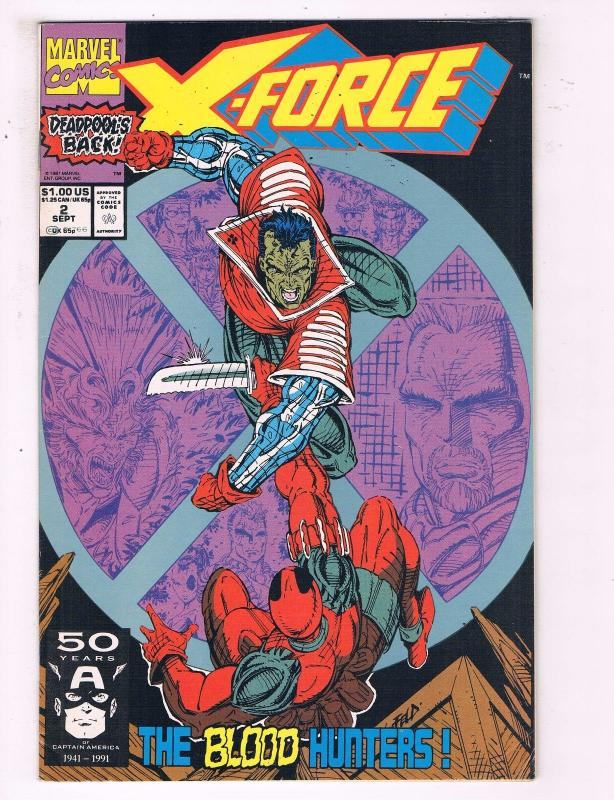 X-Force # 2 VF/NM Marvel Comic Book 2nd Appearance Of Deadpool Marvel KEY BN4