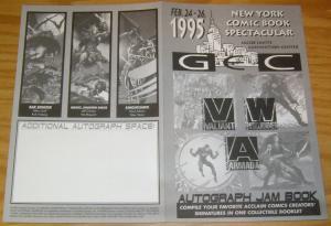 Autograph Jam Book #1 VF/NM new york comic book spectacular - valiant acclaim