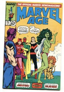 Marvel Age #70 She-Hulk swimsuit cover comic book 1989