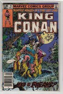 KING CONAN (1980 MARVEL) #18 FN+ A13442
