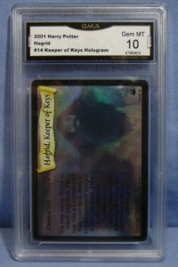 2001 Harry Potter TCG Hagrid #14 Keeper of Keys Hologram Card - Graded MINT 10