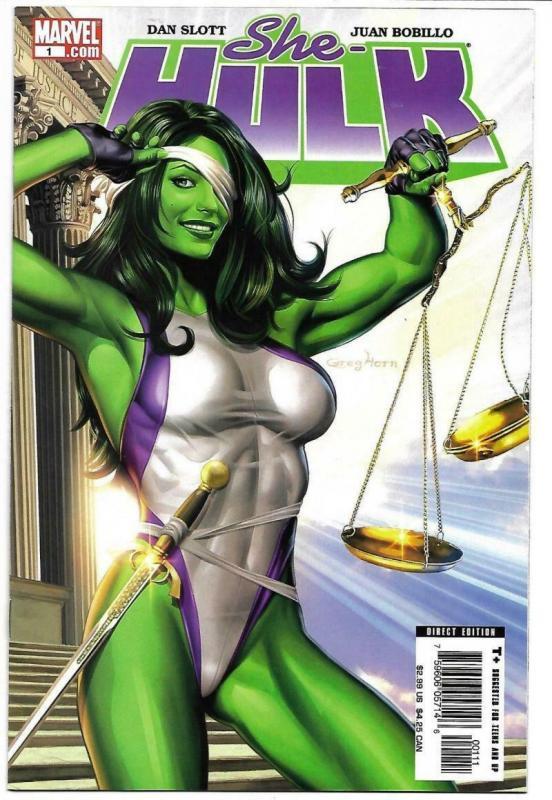 SHE-HULK #1, NM-, Greg Horn, Good Girl, Femme Fatale, 2005, more in store
