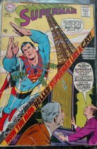 Superman #208(DC,1968) Condition GD/VG