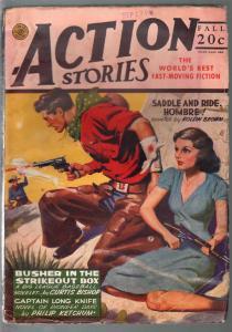 Action Stories-Fall Vol. 17 #9 1944-Good Girl Art cover-1st Capt Long Knife-hero
