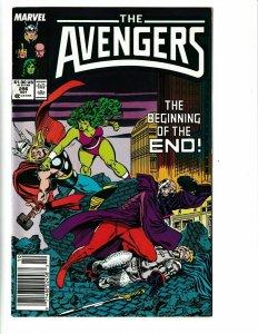 Avengers # 296 1987 marvel she hulk thor doctor druid  zues captain america kang