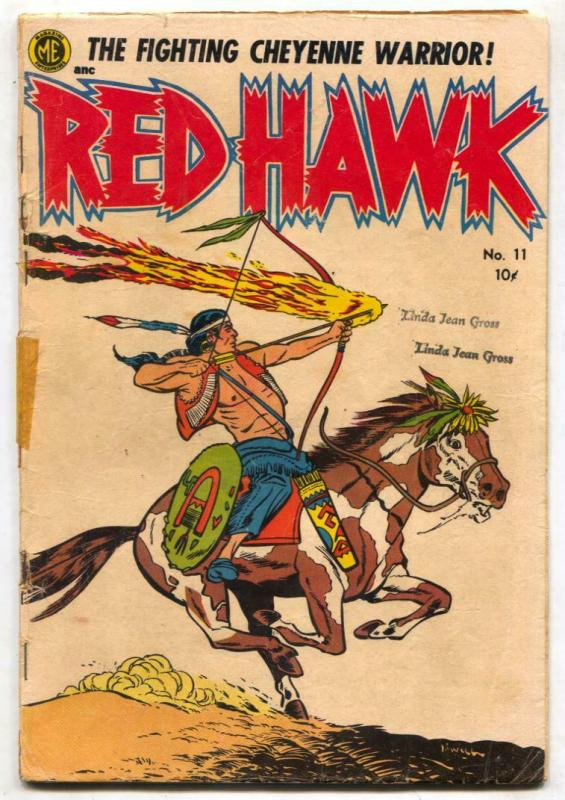 Red Hawk #11 1953- Golden Age Western Indian comic G