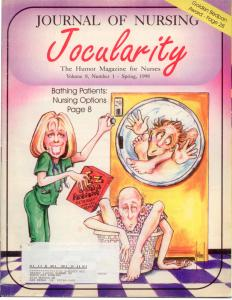 Journal of Nursing Jocularity, Vol. 8 No. 1 1998 Humor Magazine RARE! Miller art