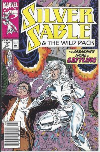 Silver Sable & the Wild Pack #2 (July 1992) - The Assassin's Name is Gattling