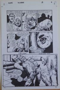 RICHARD CORBEN original art, ALIENS ALCHEMY #3 pg 6, Signed, 11x17, Stabbed