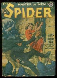 THE SPIDER APRIL 1941 STOCKBRIDGE HOODED MENACE COVER VG