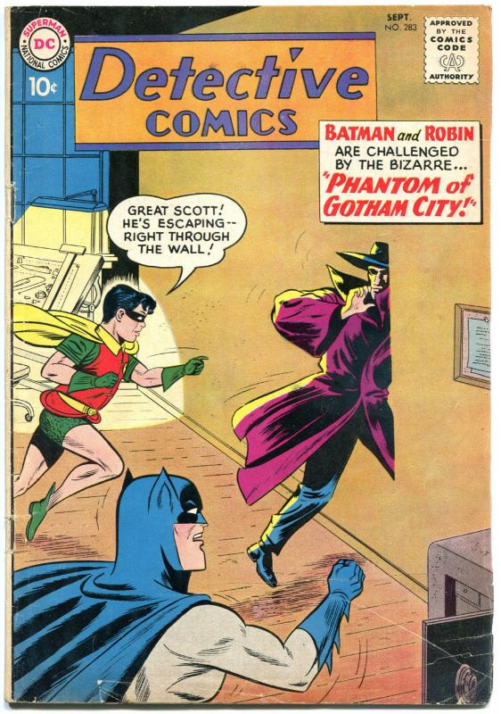 DETECTIVE COMICS #283, VG, Bob Kane, Caped Crusader, 1937 1960, more in store