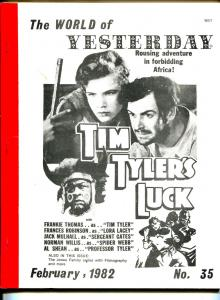 World of Yesterday  #35 2/1982-Tim Tyler's Luck-Frankie Thomas-Jones Family-VG