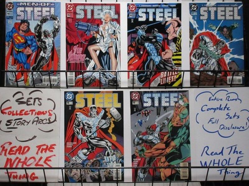 STEEL (1994) 14-19 MEN OF STEEL SUPERMAN,WhTHE SET!