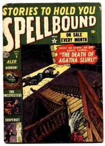 SPELLBOUND #9-1952-RUSS HEATH--VAMPIRE--PRE-CODE HORROR