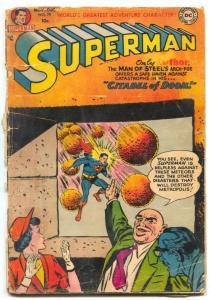 Superman # 79 1952-DC-Luthor cover-Citadel of Doom- low grade