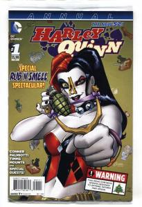 HARLEY QUINN ANNUAL #1 NM 2014-Rub n Smell cvr-DC-BATMAN-