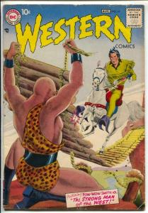 Western #64 1957 DC-Pow-Wow Smith-greytone cover-VG+