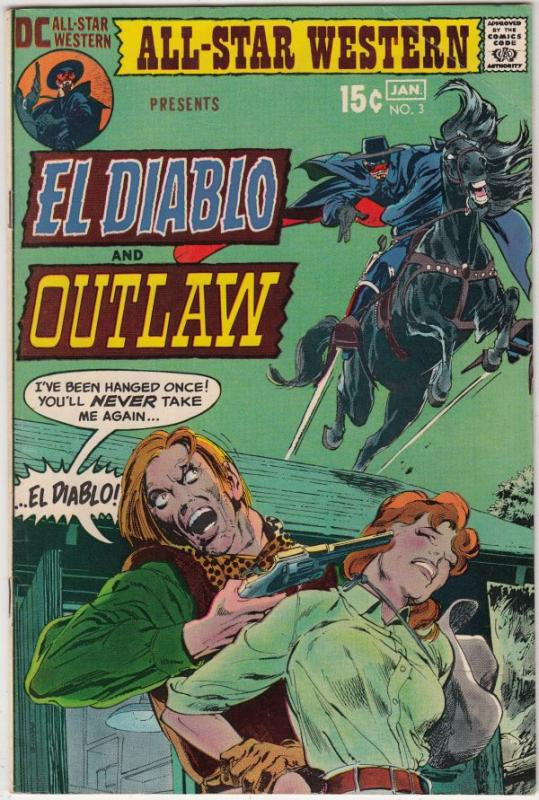 All-Star Western #3 (Jan-71) VF/NM High-Grade El Diablo, Outlaw