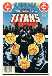 NEW TEEN TITANS ANNUAL #2 Newsstand variant 1983-1st VIGILANTE