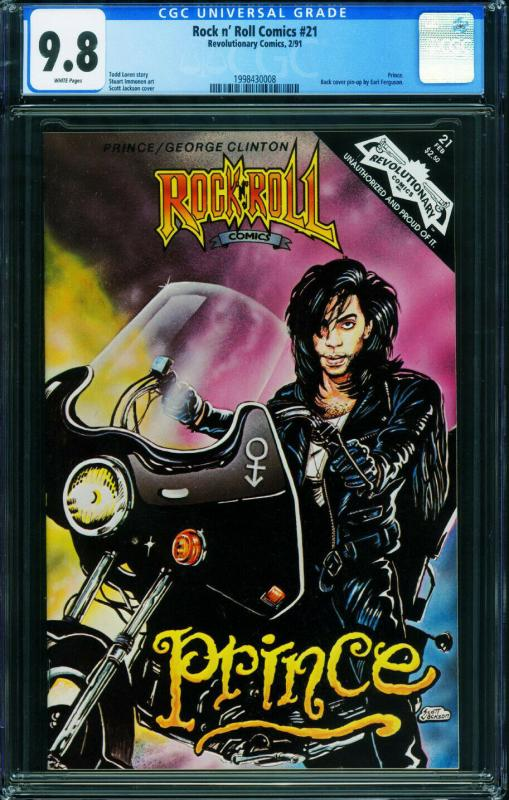 Rock N Roll Comics #21 CGC 9.8 1990-PRINCE issue-1998430008