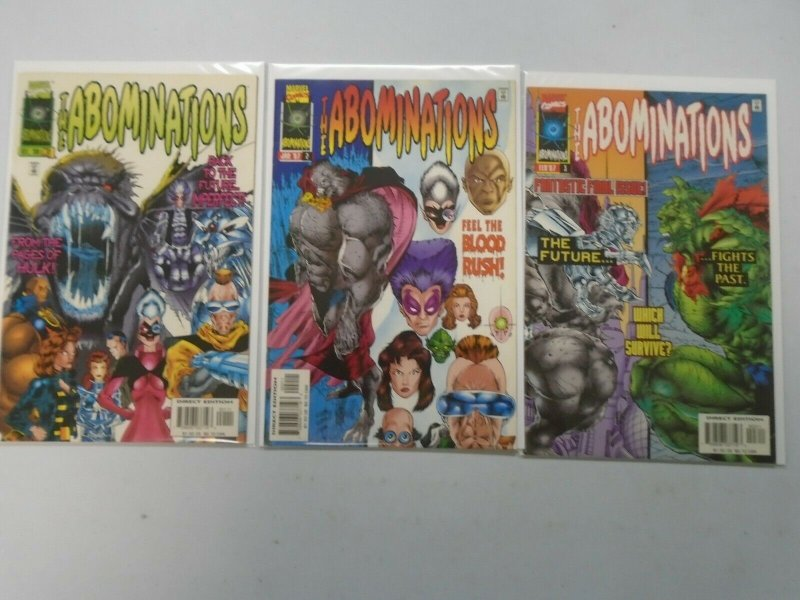 The Abominations Marvel Set: #1-3 8.0 VF (1996)