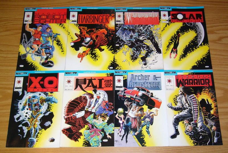 Unity #1-18 VF/NM complete story + lost chapter - jim shooter valiant comics set