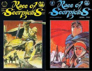 RACE OF SCORPIONS (1990 DH) BOOK 1-2  Complete 1st Set!