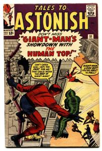 TALES TO ASTONISH #51 comic book 1964-MARVEL-GIANT-MAN-WASP-JACK KIRBY-FN-