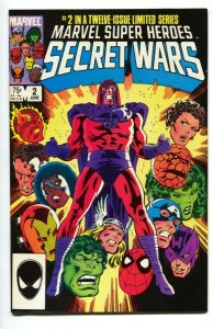 MARVEL SUPER HEROES SECRET WARS #2 1984 - Magneto comic book nm-