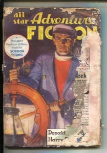 All Star Adventure Fiction #2 6/1935-Pulp stories-Steve Fisher-Harry Sinclair...