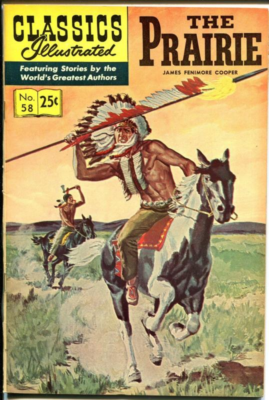 Classics Illustrated #58 1969-Gilberton-The Prairie-HRN 169-Cooper-VF+